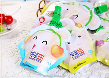 Customized Reusable Juice Drink Food Packaging Bag spout pouch bag / Liquid Stand up Spout Pouch with Top Spout