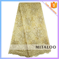 Mitaloo MFL0015 Graceful Design French Lace Embroidered Bridal Net Lace Fabric For Wedding Dress