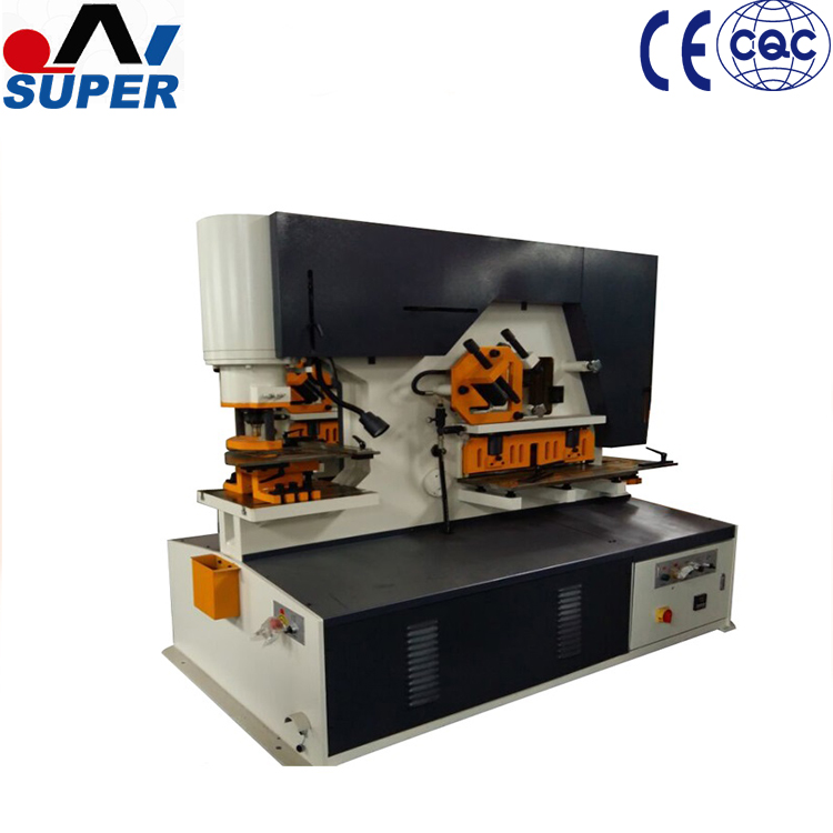 Hydraulic Press Brake Metal Ironworker With Iron Working Tools