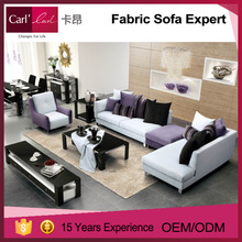 New design popular color combination can be customized recliner corner sofa