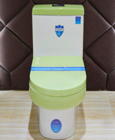 Green color water closet ceramic one piece toto toilet