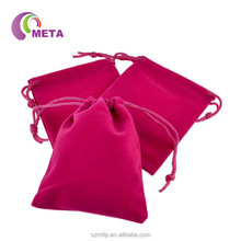 Wholesale Eco-Friendly Recyclable Jewellery Velvet Pouch Drawstring