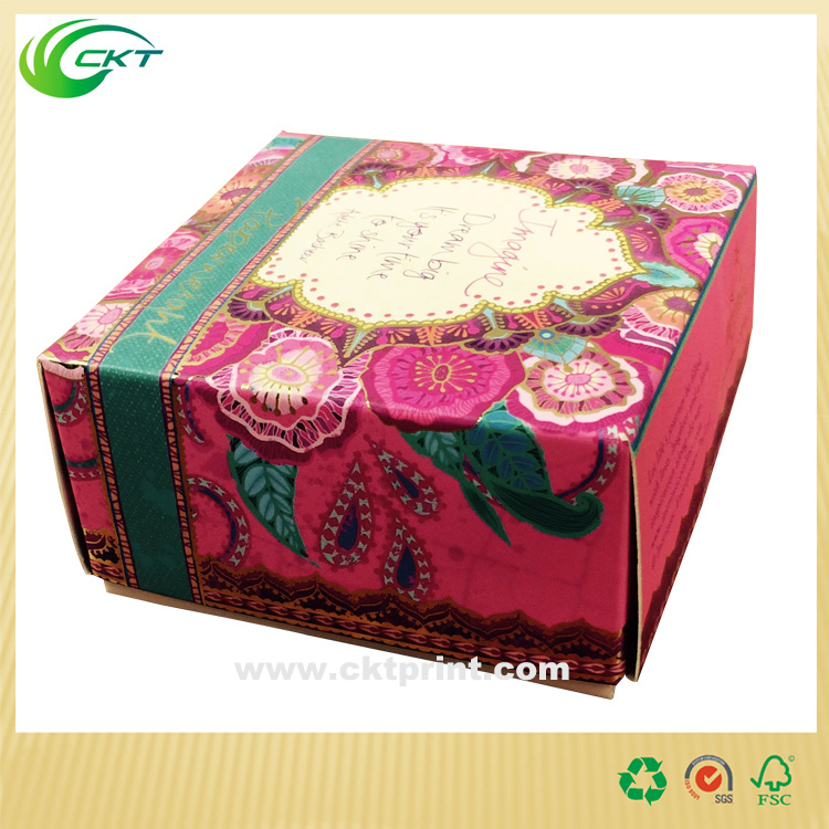 2016 small Gift Box Paper Box packaging with foil printing made in China