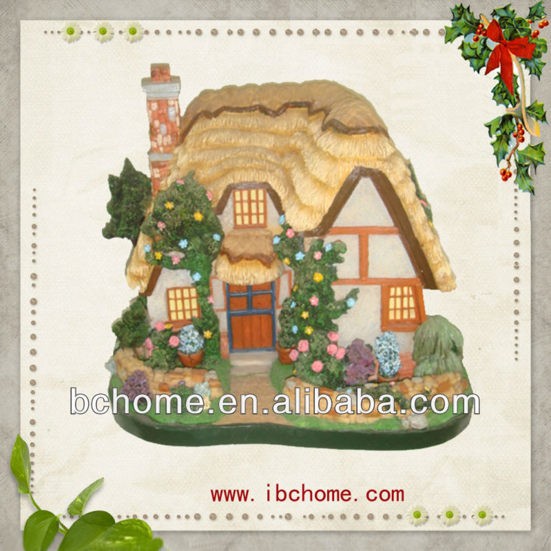 Christmas resin house,Polyresin house
