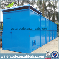 Package mbr wastewater treatment plant bio water filter frp tank