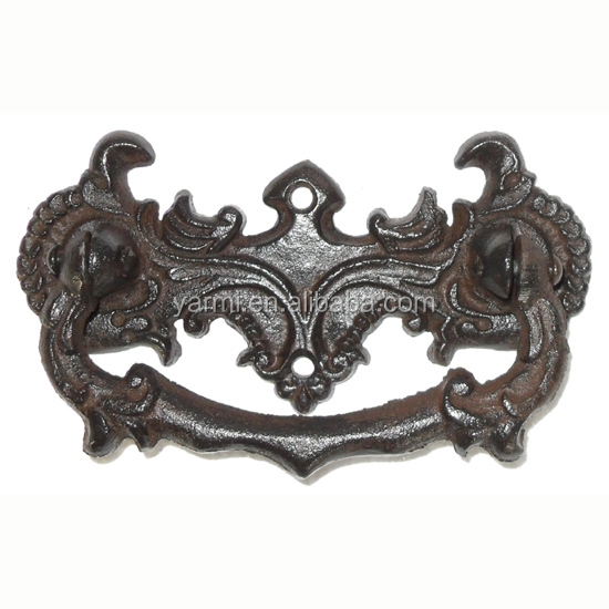 ANTIQUE CAST IRON DRAWER PULLS