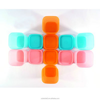 M406 Creative kitchen plastic candy color vegetable food storage container