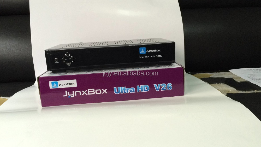 Stocks for 2016 newest JYNXBOX Ultra HD V26 8psk satellite receiver with jb200,wifi for north america