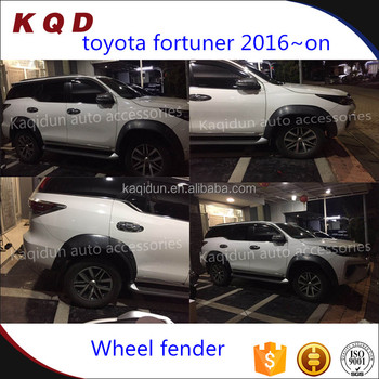 Special design high fit toyota fortuner accessories Injection abs wheel fender flares for toyota fortuner 2016