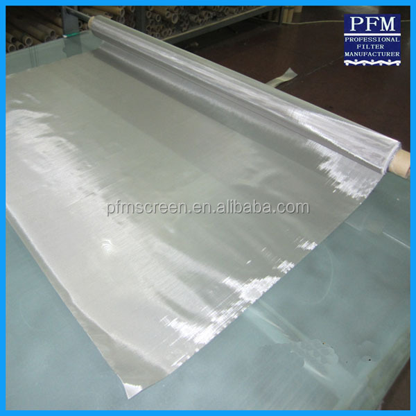 stainless steel silk screen mesh/roll screen printing mesh silk fabric