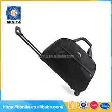New unique desire mens outdoor black wheeled duffel wholesale trolley bags with vogue design