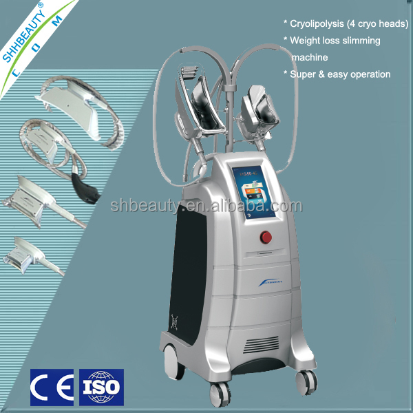 Cryolipolisis Fat Reduction Slimming Devices with 4 Cups