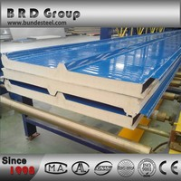 Color steel sheet corrugated metal roof panels fire resistant board