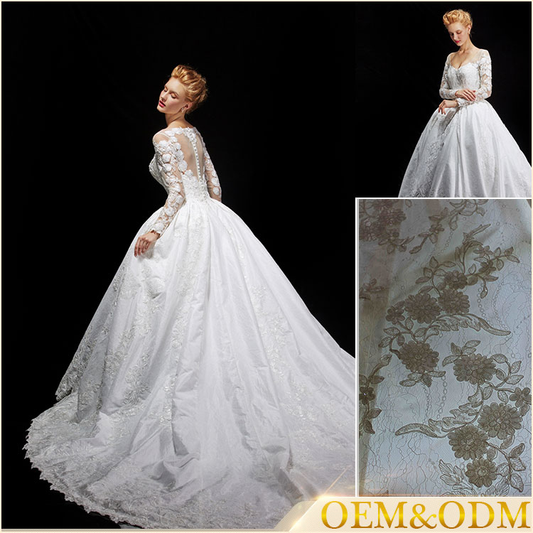 Latest product Alibaba vestidos de novia long wedding gown