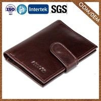 Wholesale Modern Style Custom Color Travel Leather Wallet Men