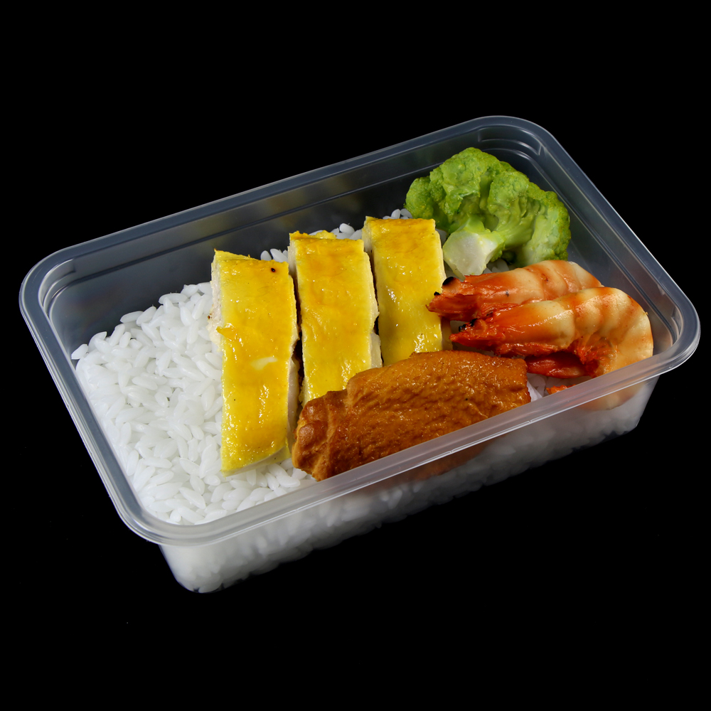 500ml disposable microwave food takeaway square container lunch box with lid