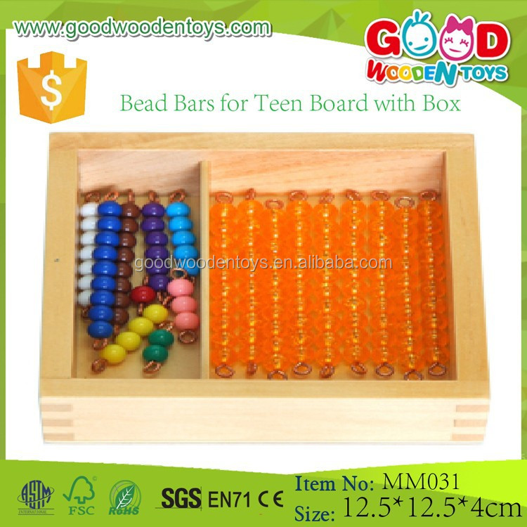 Bead Bars for Teen Board with Box Montessori Math Materials Best Educational Toys