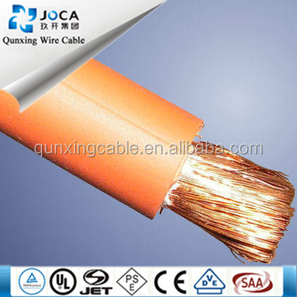 Supper flexible rubber welding cable /pvc welding cable/fiber optic cable welding machine
