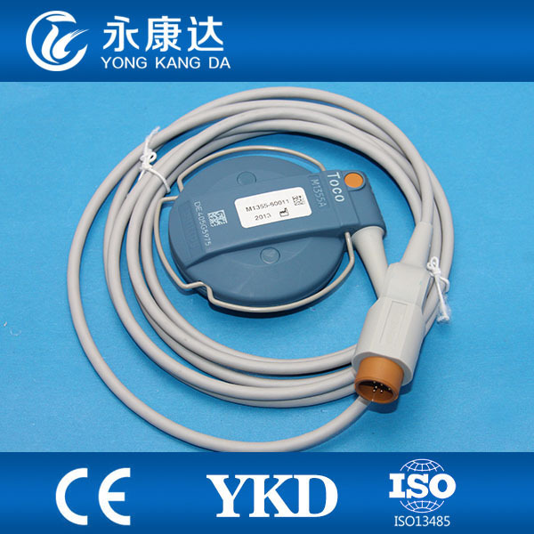 HP Fetal monitor transducer probe with 11pin plug for philips with CE&ISO13485 met,8 months warranty