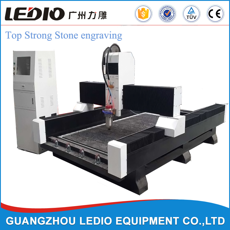 Strong stone cnc router/1325 water cooling cnc marble engraving machine/marble carving machine in Guangzhou Ledio for sale