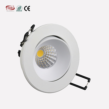 Norway market matt white painting 9W COB LED Rotated spotlight cut out 83mm downlight