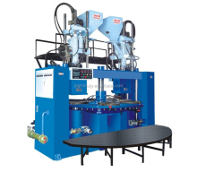 High Quality Vertical Two Color TPR and PVC Shoe Sole Injection Moulding Machine