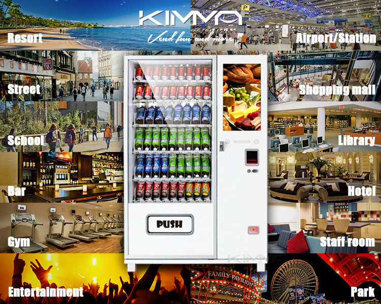 Anti - explosion smart touch screen vending machine for hotel / restaurant / commercial building