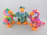 beautiful colors plush parrot