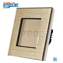EU/UK type touch screen light switch,wireless remote power switch 230V