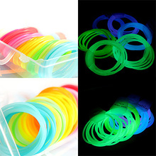glow in the dark hot selling silicone bracelet Fans candy color neon luminous