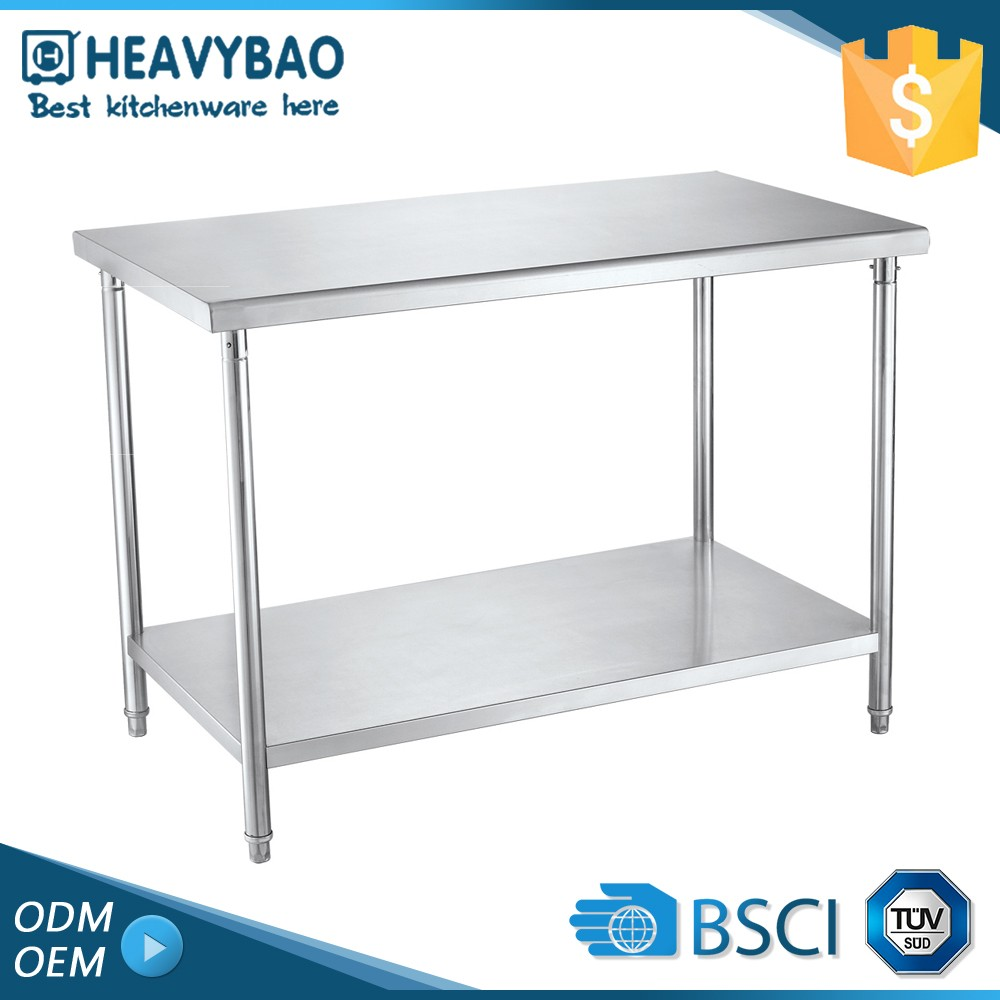 Luxury Quality Stainless Steel Knocked-down Leg Brackets Restaurant Flat Measurement Table