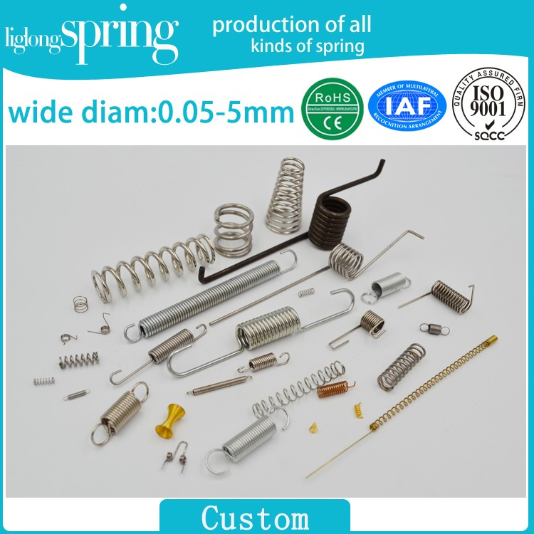 Various types of stainless steel spring