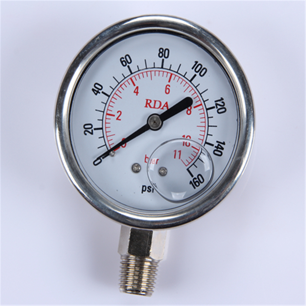 Hot sale products China easy to read oil pressure gauge