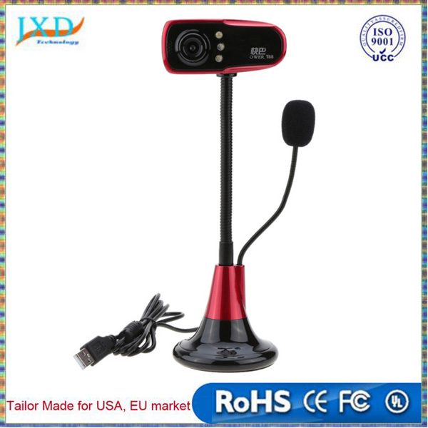 High Quality 12.0MP HD 480p Webcam with Mic 3 LED 12 Megapixel USB Desktop Noise Isolating Web Camera for PC Computer Laptop