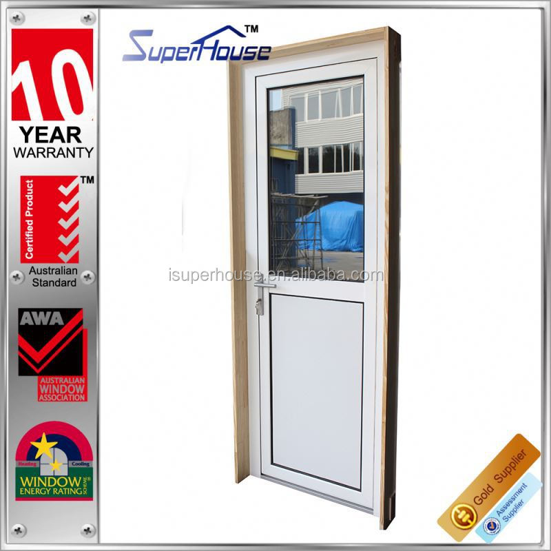 Superhouse thermal break heat insulations tempered glass door with timber reveals