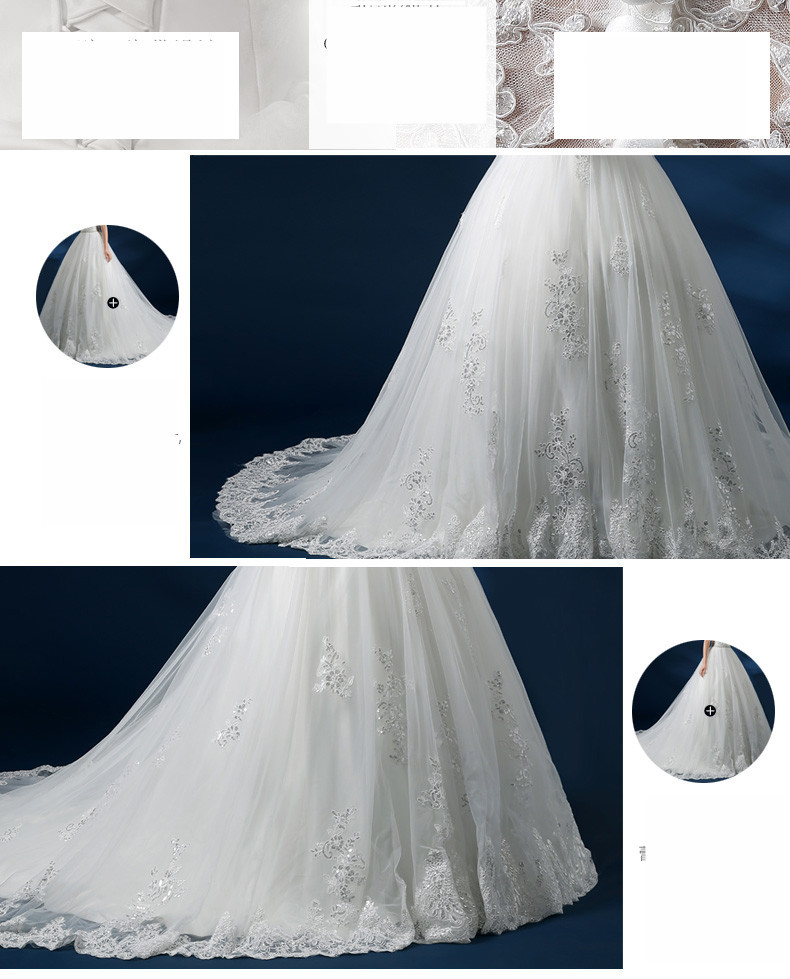 New Style A-line Scoop Neckline Sleeveless Sweep Train Organza with Lace Plus Size wedding gown Pregnant bridal dresses GS24