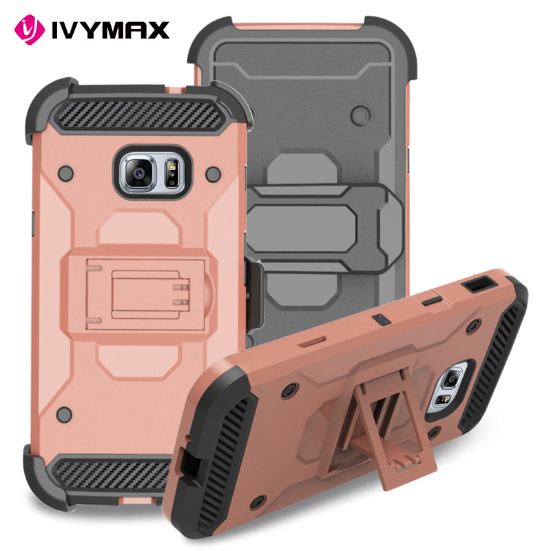 IVYMAX Hybrid 3 in1 Heavy Duty Armor Cover X patern Kickstand Belt Clip Holster Combo Rugged Case for Samsung Galaxy XCover 4