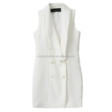 monroo western formal plain sleeveless ladies office wear dresses