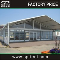 cheap aluminum outdoor decoration dubai tent 20x30m tent with glass wall
