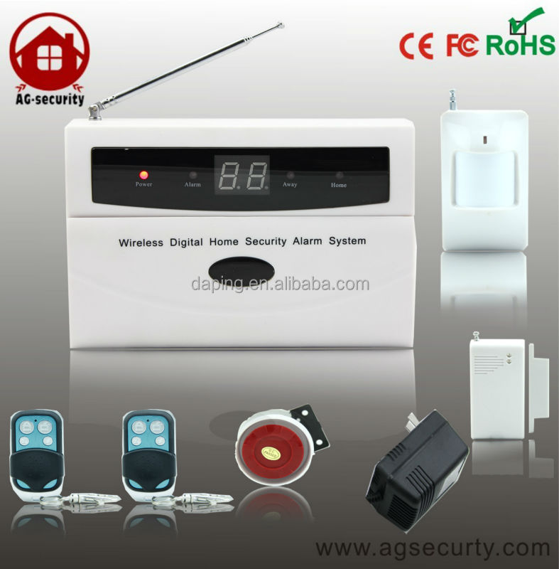 alarm system with LCD display, can connect with wired& wireless sensors