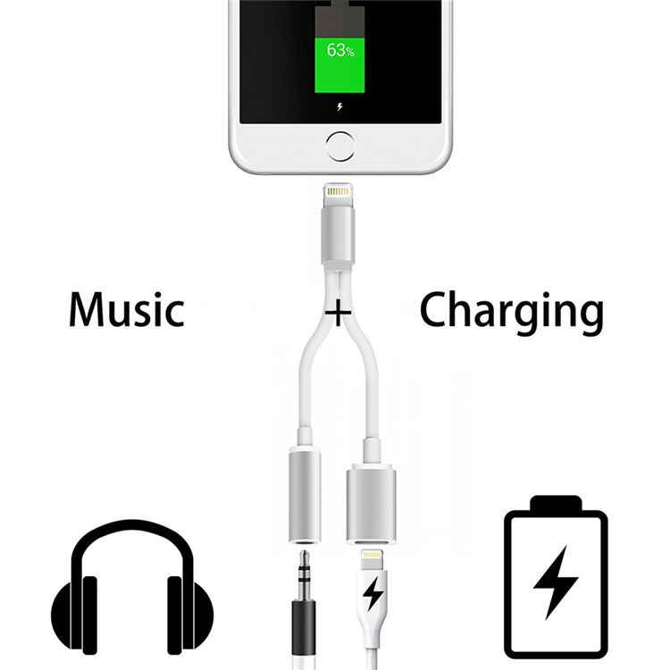 New IOS 10.3 audio splitter for iPhone 7 with 3.5 mm aux charge adapter
