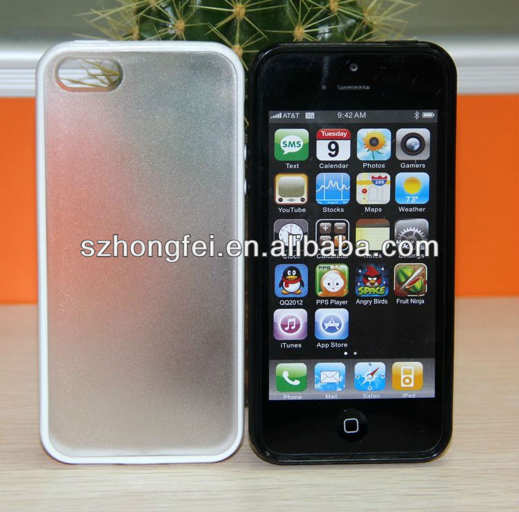 OEM high quality PC+TPU transparent hard mobile phone case for iphone 5
