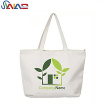 2017 Quality Promotional Pretty Design Custom Printed Heavy Duty Zip Cotton Canvas Tote Bag