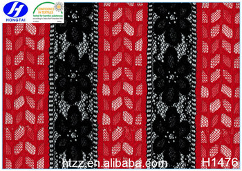 Knitted burnt out China Changele factory lace fabric