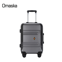China Supplier Wholesale High Quality Customize Logo Brake Wheels Personality Stripes PC Trolley Luggage For Travel