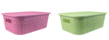Household plastic storage basket