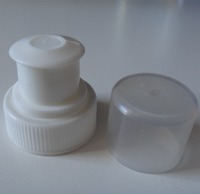 Wholesale push pull sports water 28mm plastic bottle cap with dust cover