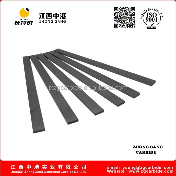 YG6X sintered cemented carbide flat bar rectangular carbide strip