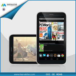 Android Dual Sim Qwerty 3G GPS Tablet Genesis Phone Tablet Sim Card Slot Tablete PC MTK6572 GSM Dual Core 1024*600HD Panel