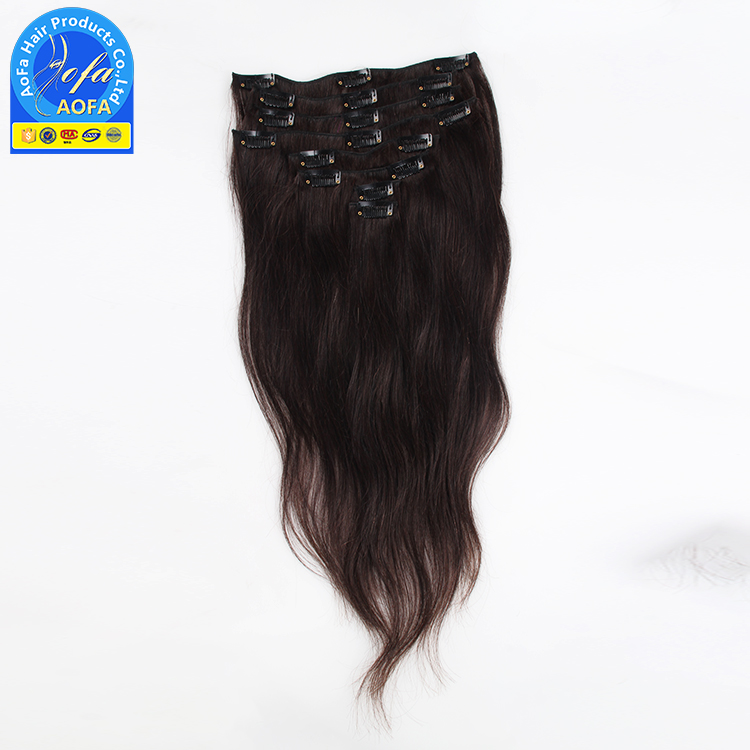Hot remy human 4/27 clip in hair extensions, sex long hair clip in india